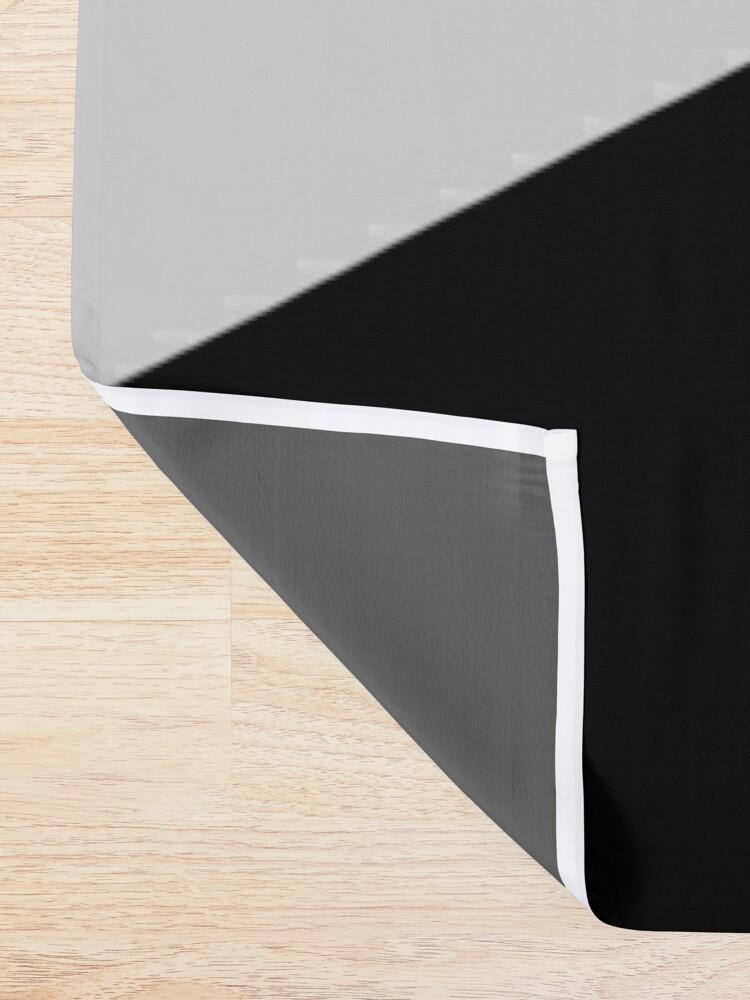 Alternate view of Monochromatic Black White Gray Color Block Shower Curtain