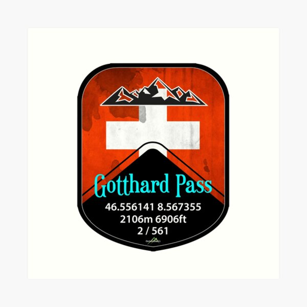 Gotthard Pass Switzerland Suisse Schweiz Motorcycle Cycle Sticker camiseta Lámina artística