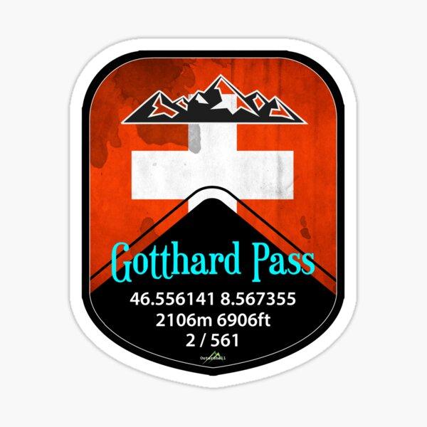 Gotthard Pass Switzerland Suisse Schweiz Motorcycle Cycle Sticker T-Shirt Sticker