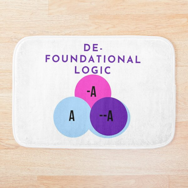 DE-FOUNDATIONAL LOGIC Bath Mat