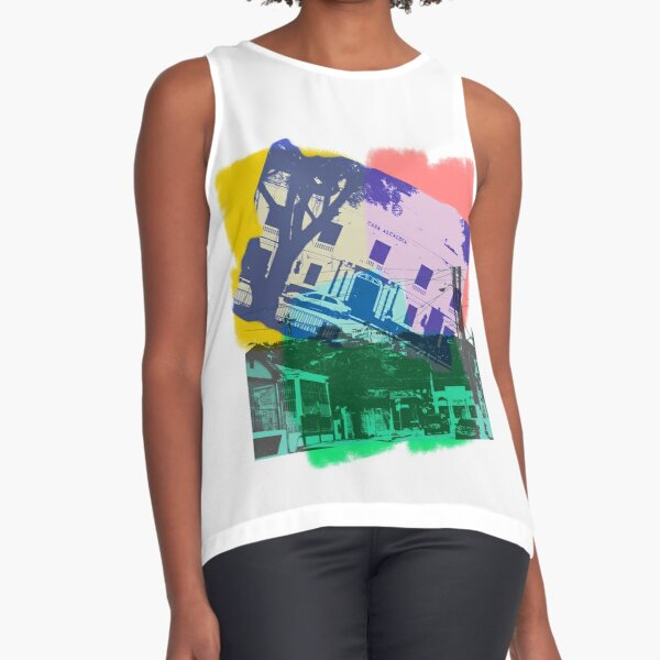 Ponce en Color Sleeveless Top