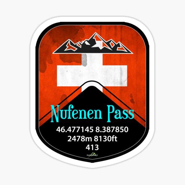 Nufenen Pass Switzerland Suisse Schweiz Motorcycle Cycle Sticker T-Shirt Sticker
