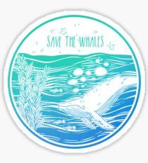 Pegatina ¡Salven a las ballenas!