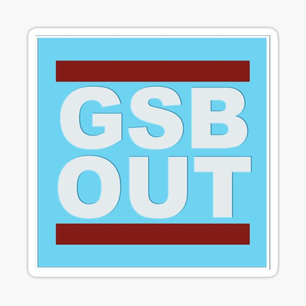 GSB Out (Blue) Sticker
