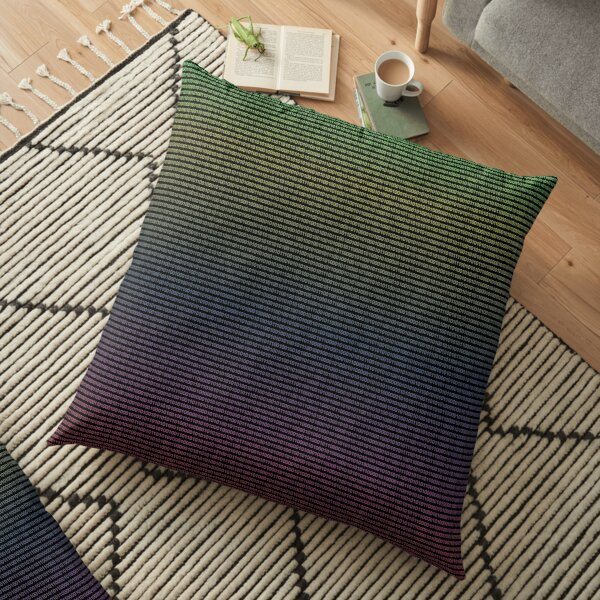 Colorful binary stream digital background Floor Pillow