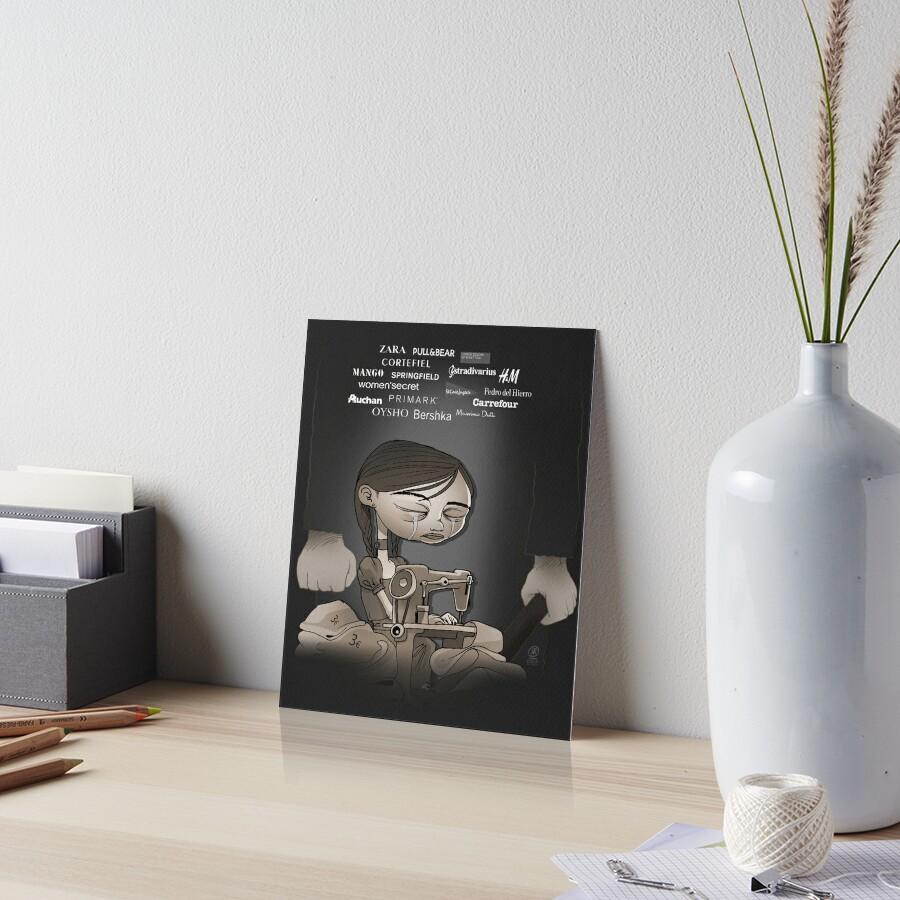 Child exploitation Art Board Print