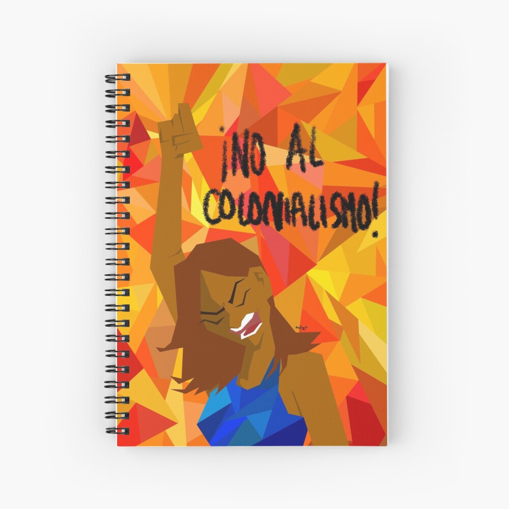 no al colonialism Spiral Notebook