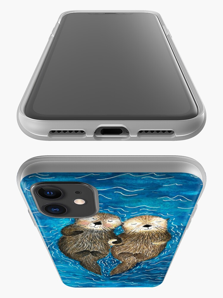 Alternate view of Sea Otters Holding Hands iPhone Case & Cover