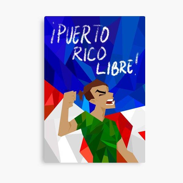 puerto rico libre Canvas Print