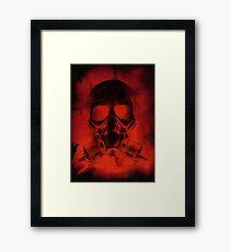 Blood And Bone in Black Framed Print