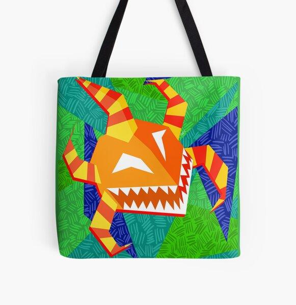 vejigante anaranjado All Over Print Tote Bag