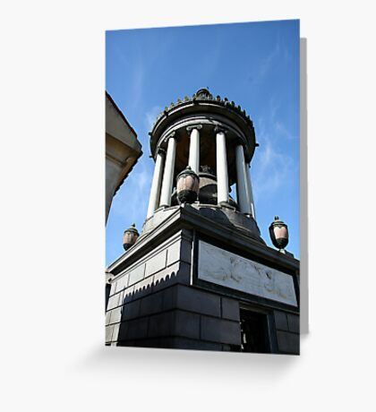 Family tomb, Recoleta cemetery. Greeting Card