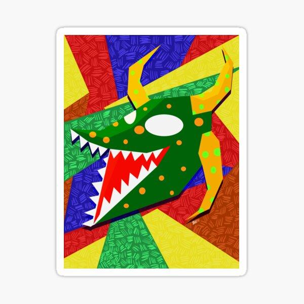 vejigante verde Sticker