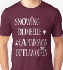 OUAT Ships (White Text) T-Shirt