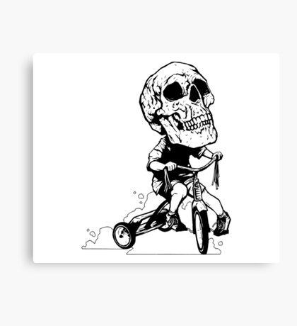 BigHeadSkullKid Canvas Print