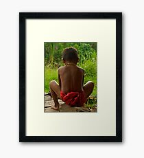 All The World Is Football Shaped. Framed Print