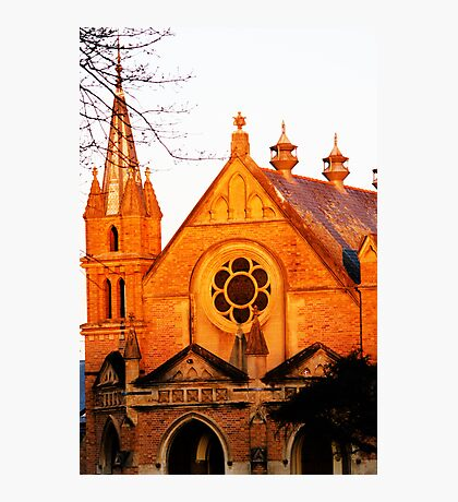 Church at sunset  Photographic Print