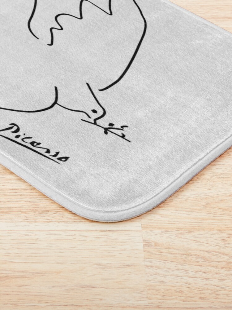 Alternate view of Picasso - Dove of peace Bath Mat