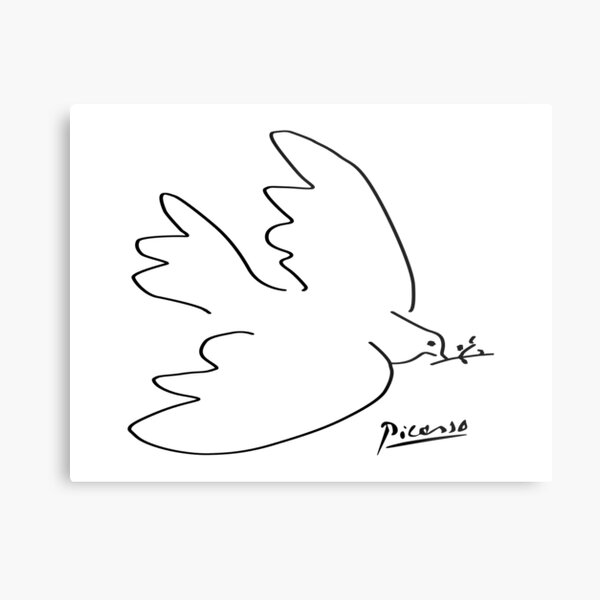 Picasso - Dove of peace Metal Print