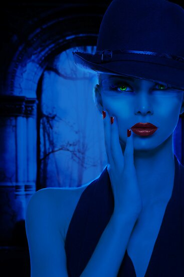 Portrait in Blue by viennablue