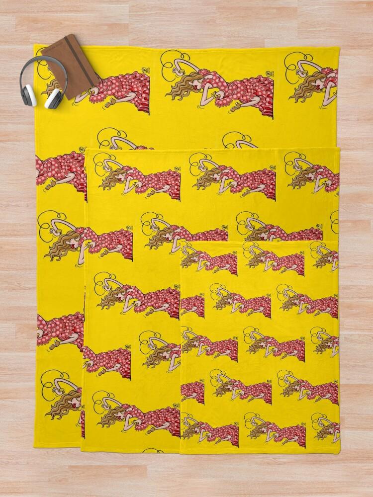 Alternate view of Flamenco dancing Throw Blanket