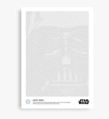 Halftone Vader Canvas Print