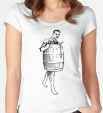 The Infidel's Plight, a.k.a. Barrel Man Women's Fitted Scoop T-Shirt