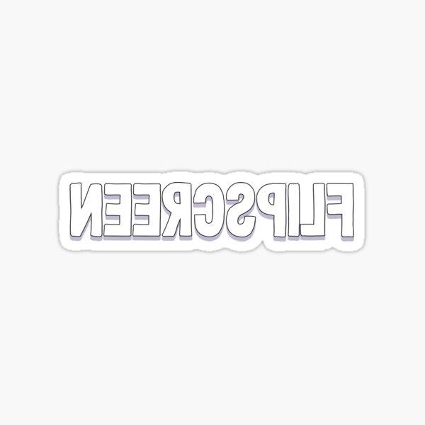 Flip Screen Full Logo Sticker