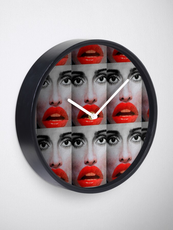 Alternate view of Vintage Beauty Magazine Collage Clock