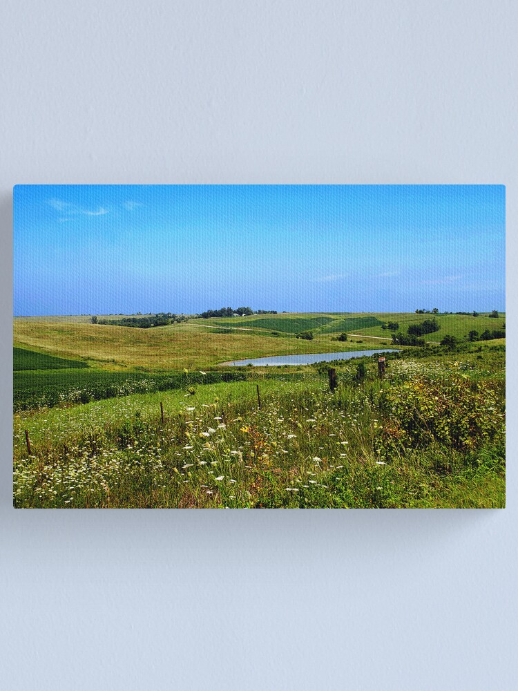 Alternate view of Iowa Farmland on a Summer Afternoon Canvas Print