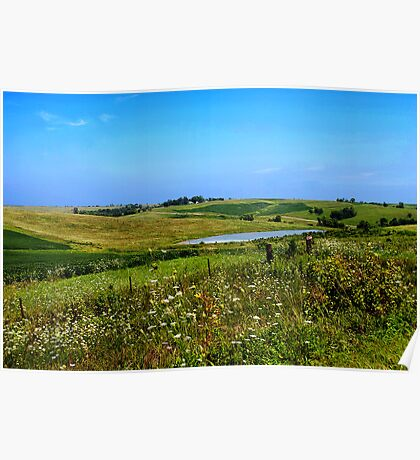 Iowa Farmland on a Summer Afternoon Poster