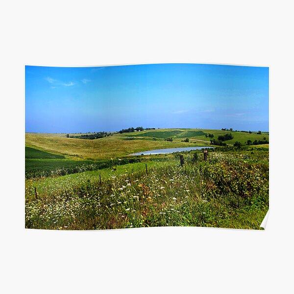 Iowa Farmland on a Summer Afternoon Poster