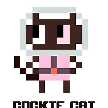 Pixel Cockie cat by Tropelio