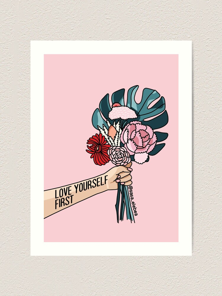 Alternate view of Love yourself first by Sasa elebea Art Print