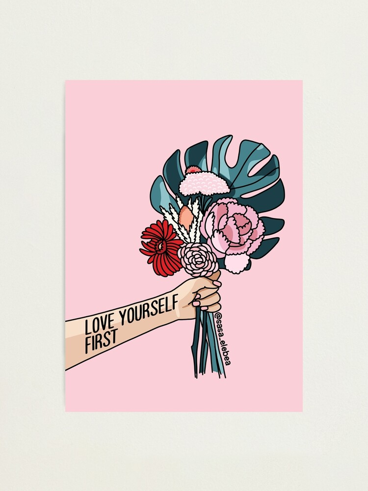 Alternate view of Love yourself first by Sasa elebea Photographic Print