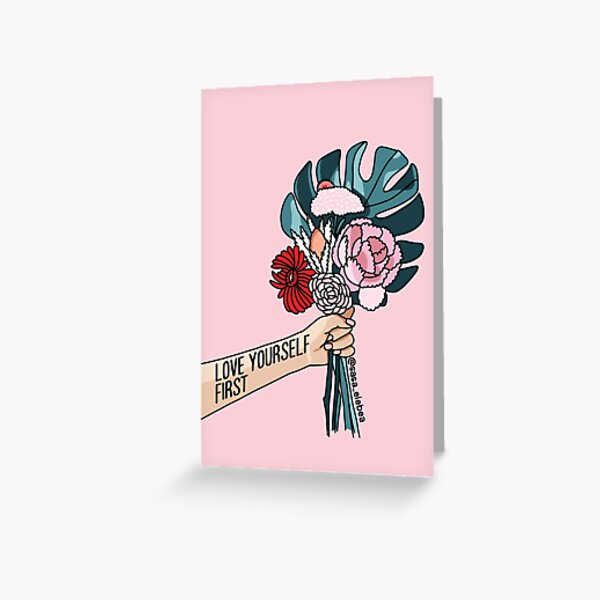 Love yourself first by Sasa elebea Greeting Card