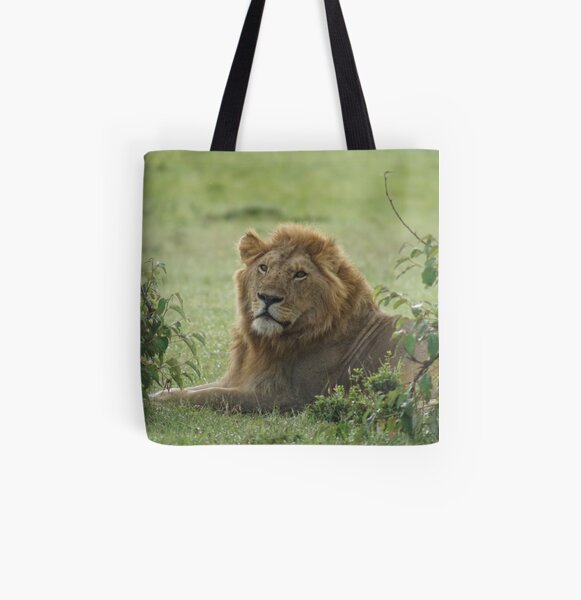 A male lion All Over Print Tote Bag