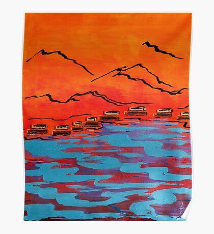 Adobe River Poster