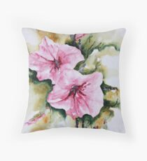 Holly Hock Series 3 Throw Pillow