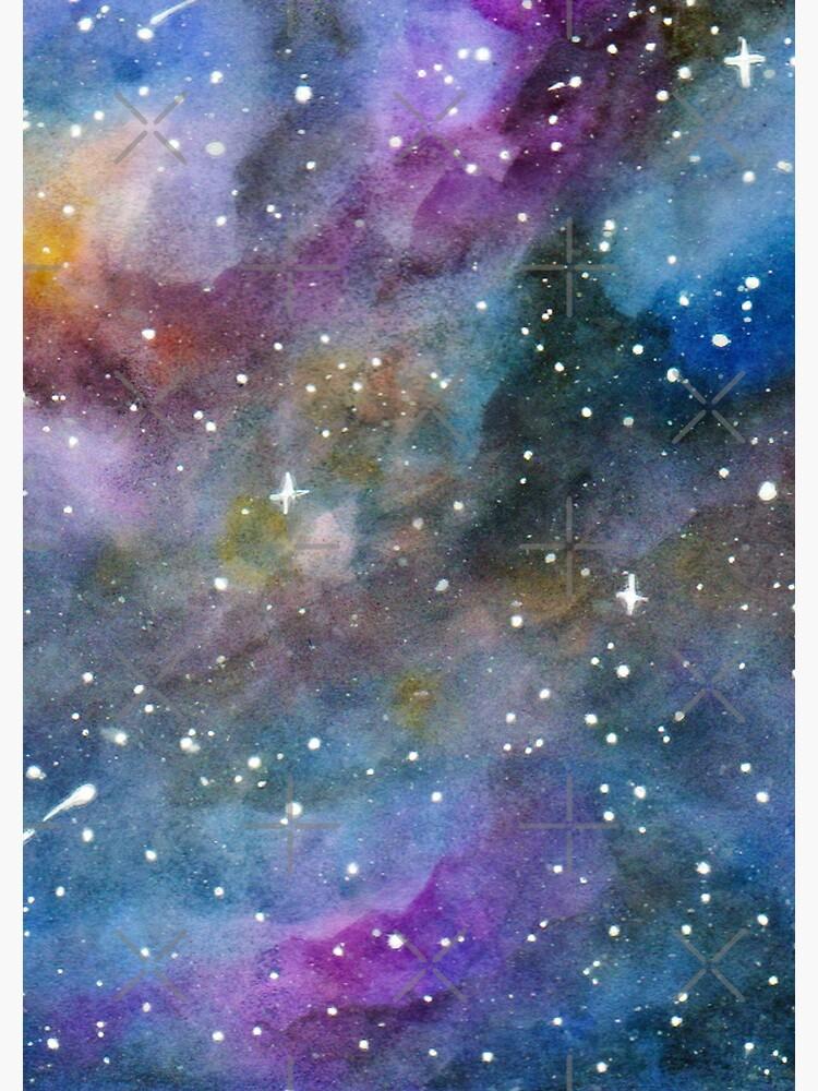 Galaxy Watercolor by MaeganCook