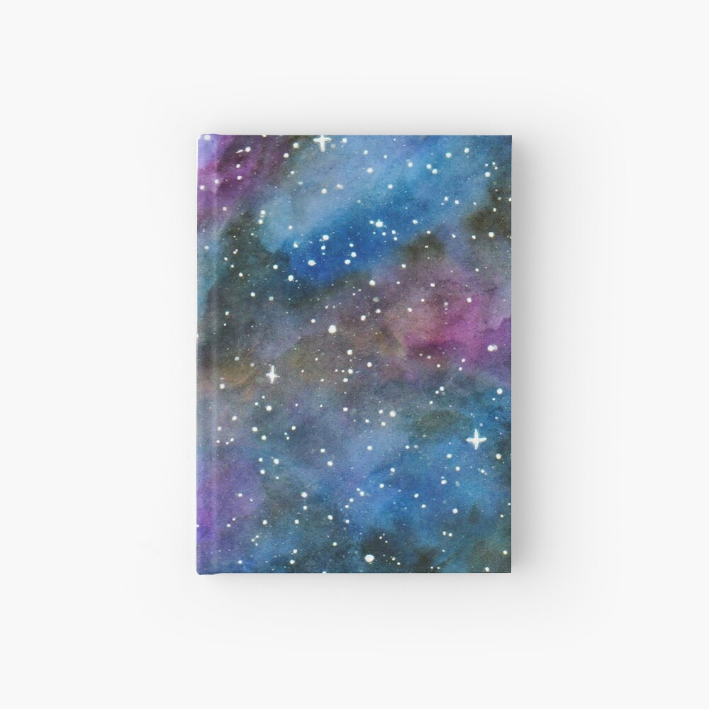 Galaxy Watercolor Hardcover Journal