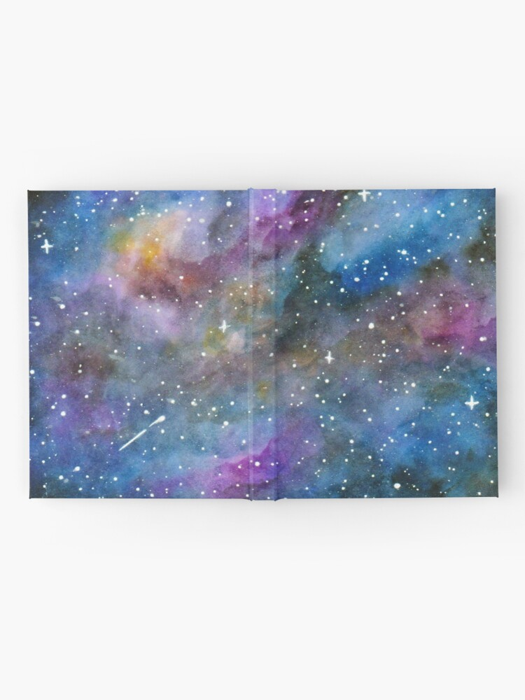 Alternate view of Galaxy Watercolor Hardcover Journal