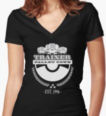 Pokemon Trainer Women's Fitted V-Neck T-Shirt
