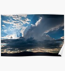 Arizona Desert Clouds Poster
