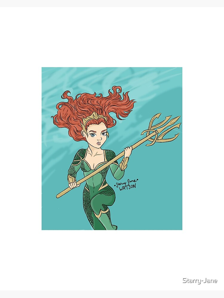 Aquaman Mera Framed Print