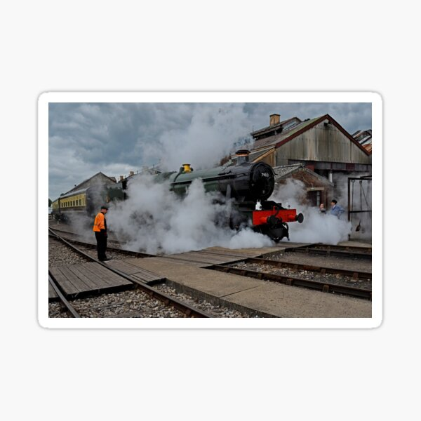 Early Morning steam at Didcot 7903 Foremarke Hall Sticker