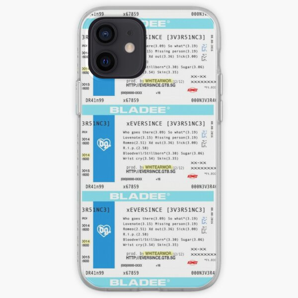 bladee eversince ticket  iPhone Soft Case