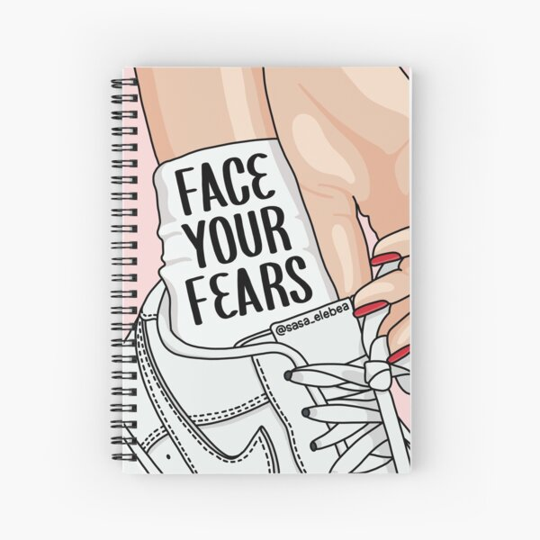 Face your fears by Sasa Elebea Spiral Notebook