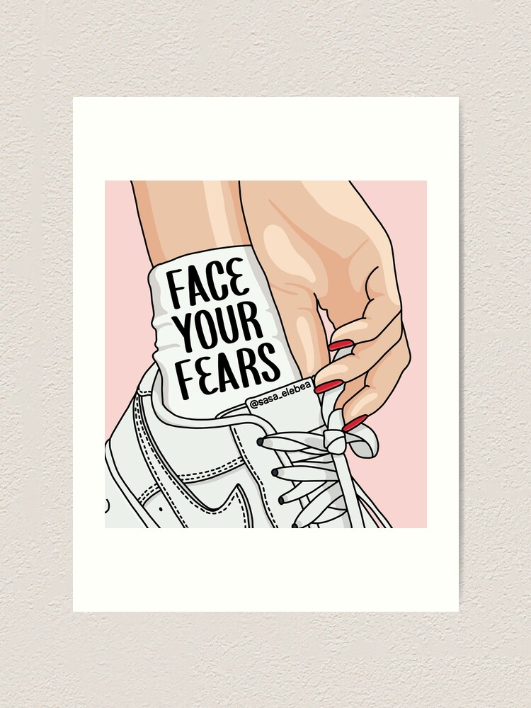 Alternate view of Face your fears by Sasa Elebea Art Print