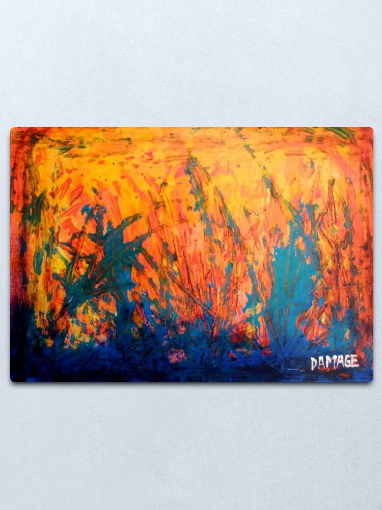 Alternate view of Fire And Rain Metal Print